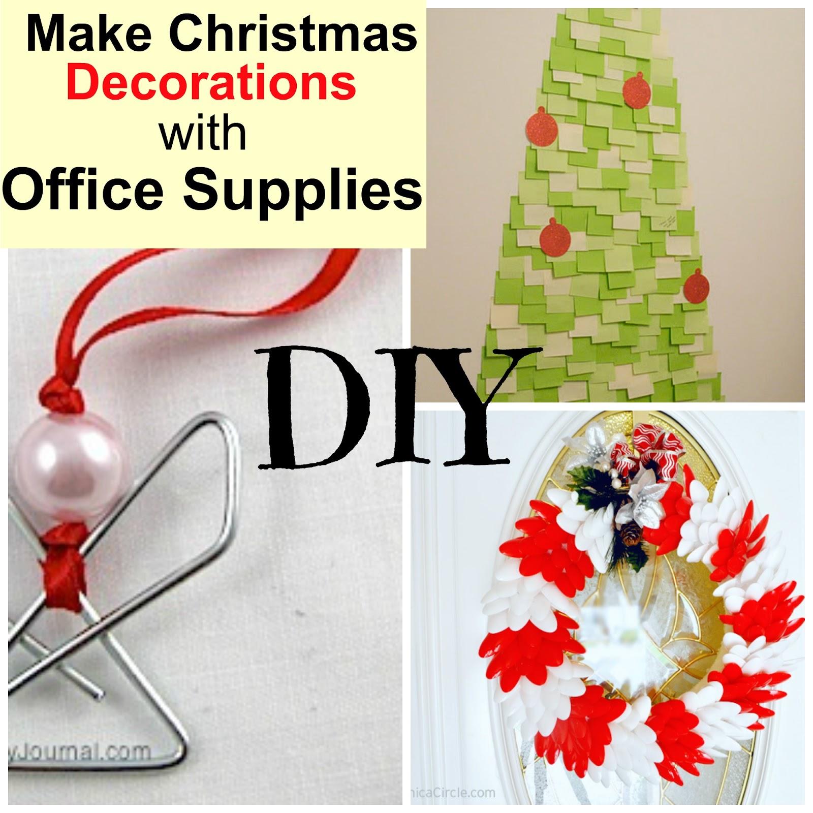 DIY Office Supplies Christmas Decorations | Christmas Wikii