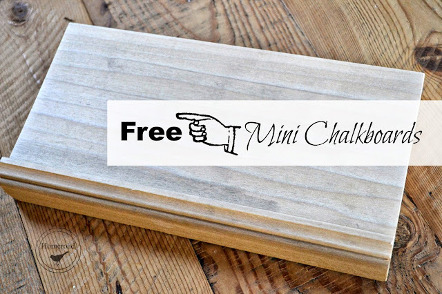 free mini chalkboards using molding www.homeroad.net