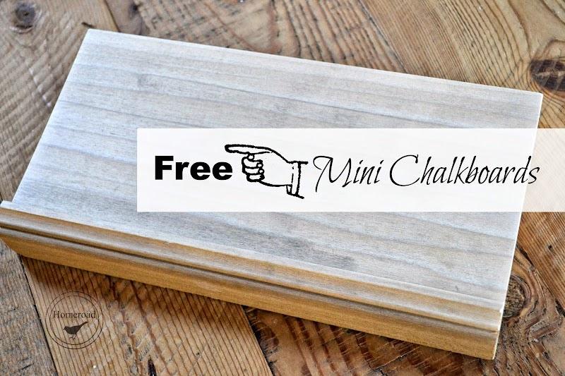 Mini Chalkboards With Free Wood!