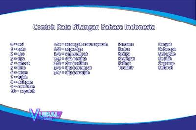 Pengertian Dan Contoh Kata Bilangan Dalam Bahasa Indonesia