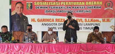 Garinca Reza Sosialisasikan Perda Tentang Perlindungan Anak Provinsi Lampung