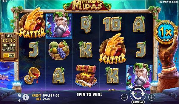 Main Slot Gratis Indonesia - The Hand of Midas (Pragmatic Play)