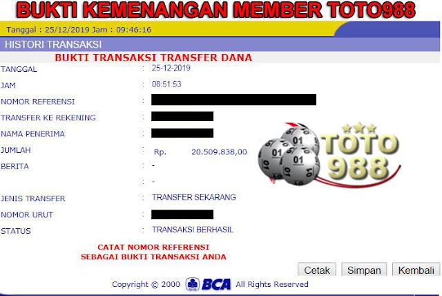 Bukti Menang Main Slot Game Online di TOTO988