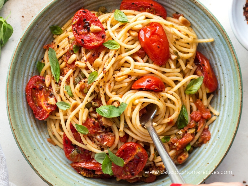 Roasted Tomato And Basil Pasta