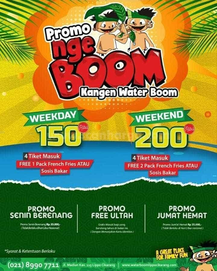 Promo Waterboom Harga Tiket Weekend dan Weekday Periode Juli 2020