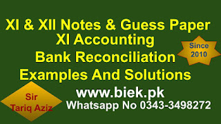 Bank Reconciliation Examples And Solutions For 1st Year Students
