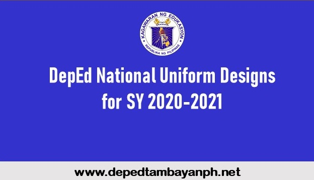 New DepEd National Uniform Designs for SY 2020-2021