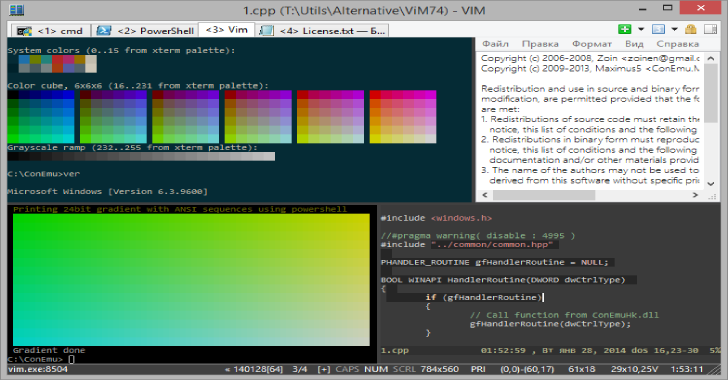 ConEmu : Customizable Windows Terminal