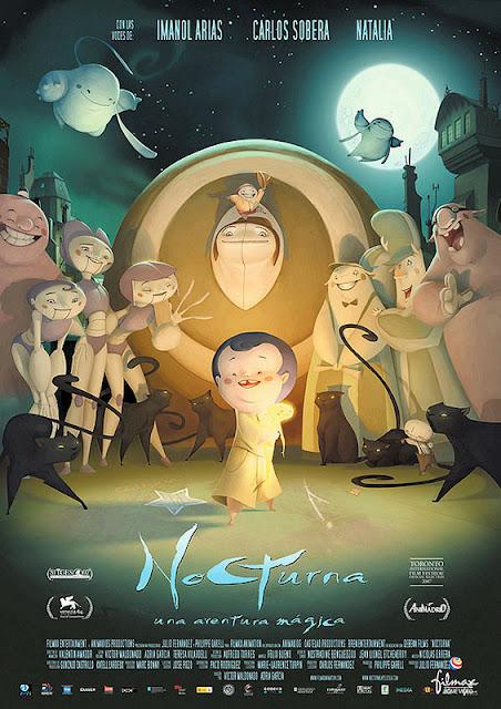 Cartel de la película española de animación Nocturna