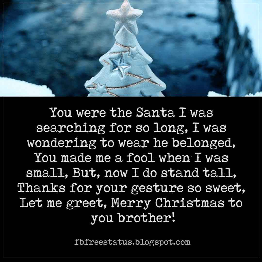 Christmas Wishes and Messages For Brother