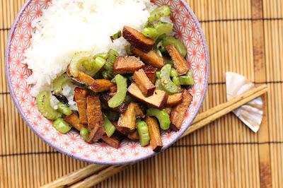 cuisiner tofu fume et celeri