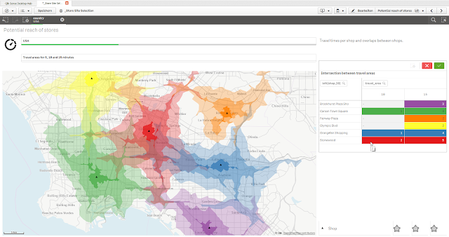 Qlik Geo Analytics Travel Time