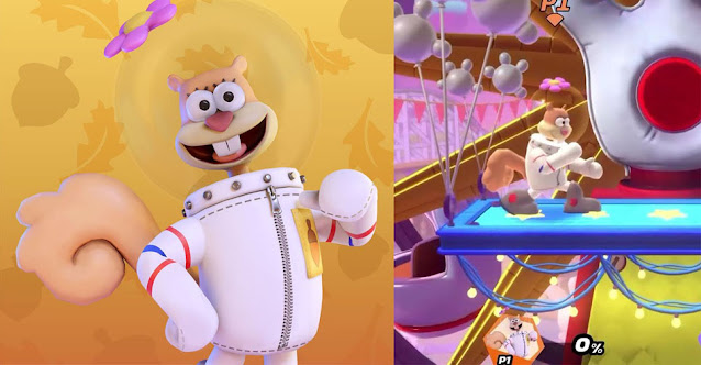 Nickelodeon All-Star Brawl Sandy