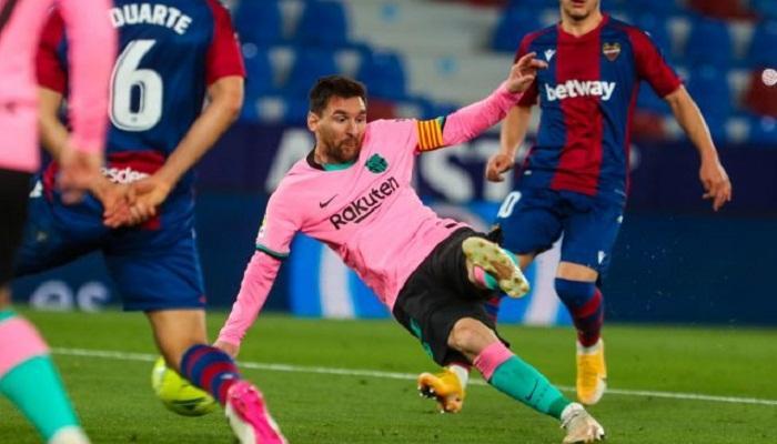 أفضل هداف في الدوري الاسباني. ميسي نقطة مضيئة في ظلام برشلونة