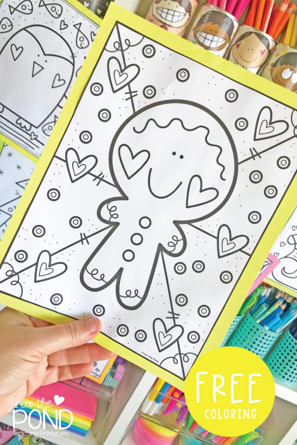 Gingerbread Man Coloring Page