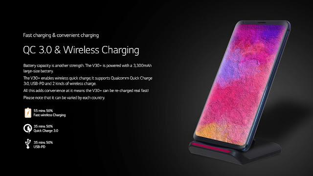 lg v30 plus charging