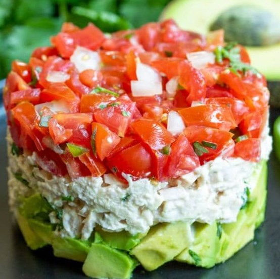 AVOCADO TUNA SALAD RECIPE #lowcarb #healthylunch