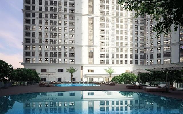 Tiện ích bể bơi tại chung cư Bel Air Hà Nội