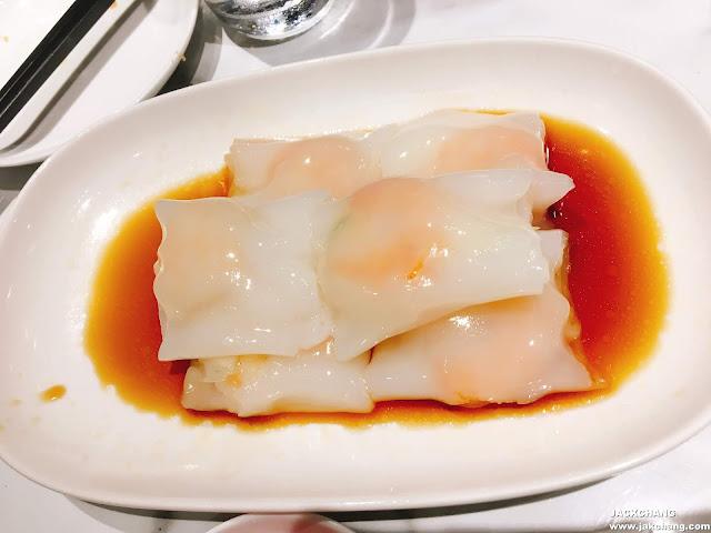 Shrimp in rice skin roll