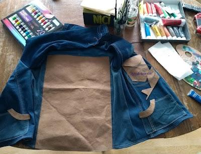 jak namalować łapacz snów DIY na ubraniu