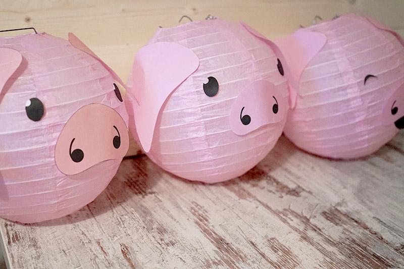 KuneCoco • DIY • LamPIGons • Lampions mit Schweinegesicht