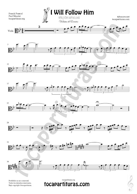Hoja 1 de 2 Viola Partitura de Yo le seguiré (I will follow him) Sheet Music for Viola Music Score