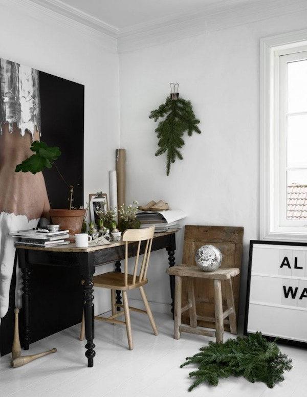 Un hogar en Noruega decorado para recibir la Navidad