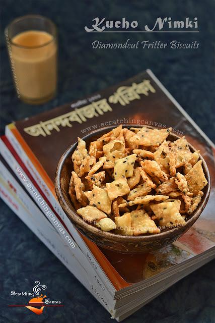 Kucho Nimki Recipe   Food Photography   Namak Para
