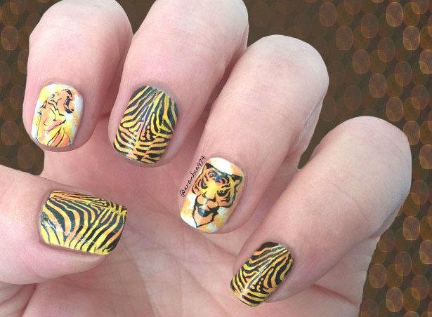 Manicura de tigre