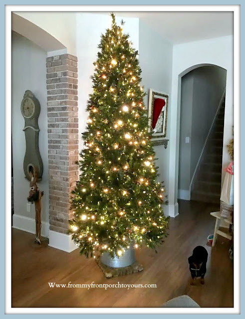 DIY -Christmas- Tree -Stand-Tutorial-Hearth & Hand-Galvanized-Bin-Wood-Pedestal-Cottage-Style-Farmhouse-Style-From My Front Porch To Yours