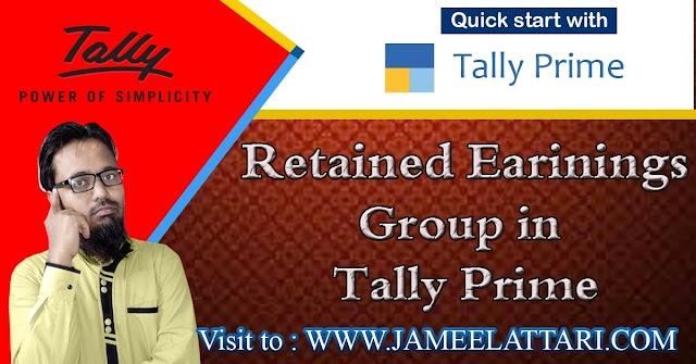 Retained Earnings Group in Tally Prime   रिटेंड अर्निंग्स ग्रुप में कौन सी लेजर आती है