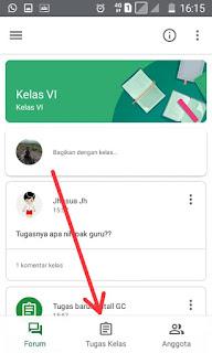 Lihat tugas kelas Google Classroom