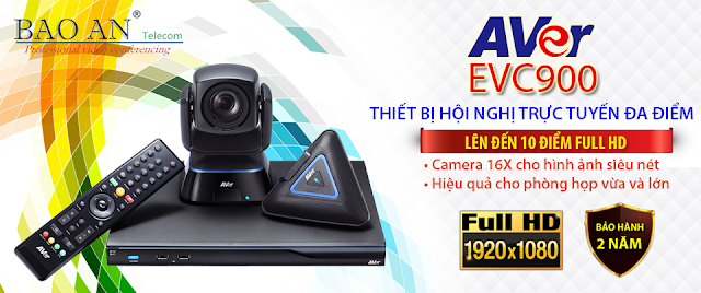 Giải pháp hội nghị truyền hình 10 điểm Full HD AVer EVC900