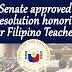 Senate compliments Filipino Teachers