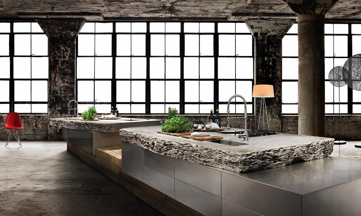R stico y moderno una mezcla radical cocinas con estilo - Fregaderos de piedra ...