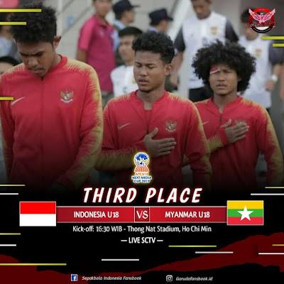 Live Streaming Indonesia vs Myanmar 19.8.2019 AFF U18