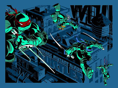 MondoCon 2015 Exclusive Teenage Mutant Ninja Turtles Standard Edition Screen Print by Ciro Nieli