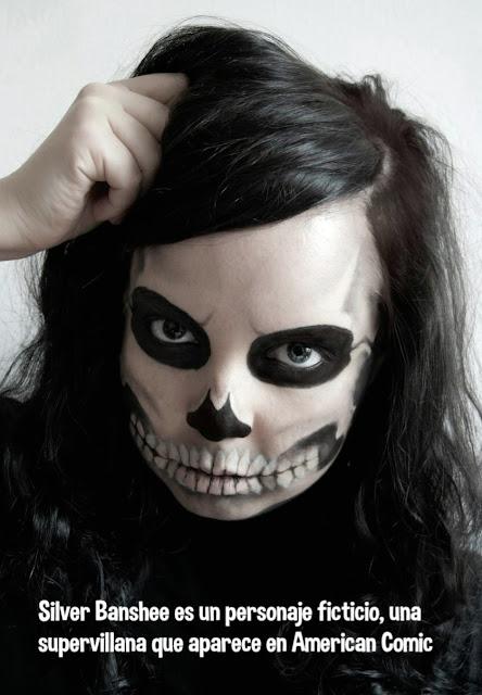 Maquillaje Halloween Silver Banshee