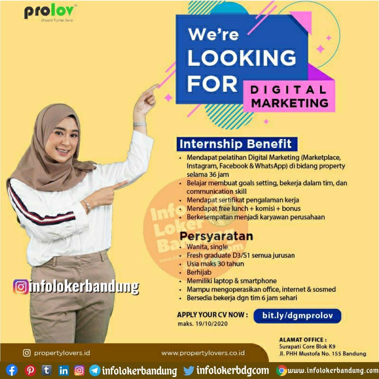 Lowongan Kerja Prolov Bandung Oktober 2020