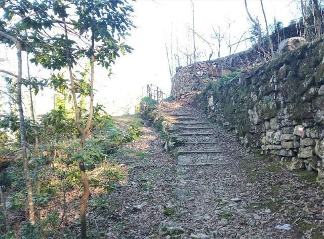sentiero 566 Castè sul monte Parodi