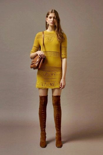 crochet dress allberta ferretti