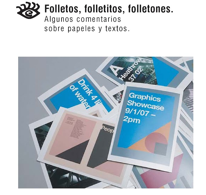 Comunicación visual - Folletos, folletitos, folletones