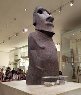 British Museum, el único moai fuera de Chile.