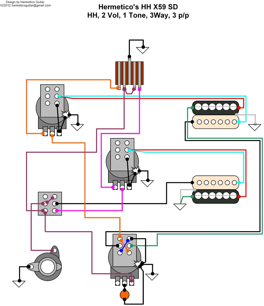 schecter humbucker wiring diagram schecter omen bass 5 way strat switch wiring diagram guitar wiring diagrams 3 pickups [ 848 x 982 Pixel ]
