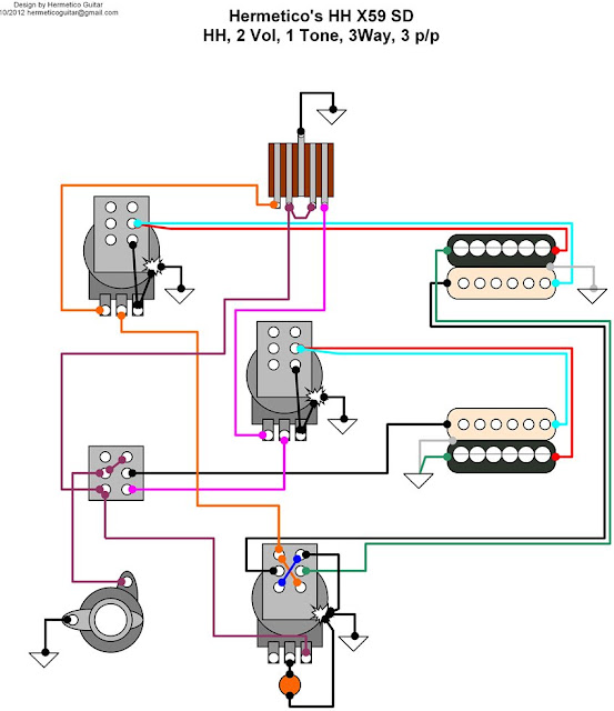 Hermetico Guitar  Wiring Diagram