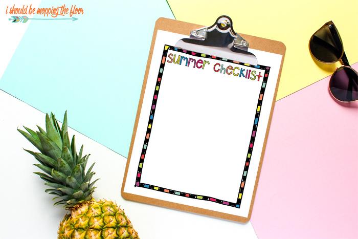 Blank Summer Checklist