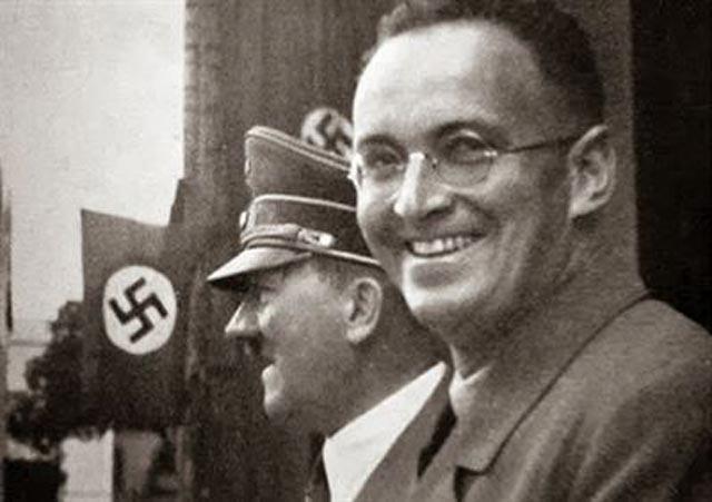 Hitler in Prague with SdP founder Konrad Henlein worldwartwo.filminspector.com