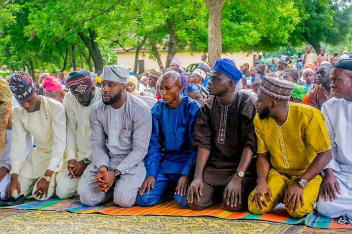 Oyo State Speaker Rt Hon Ogundoyin Adebo Celebrates Eid Al Adha With His Home Town People in Eruwa also Prays With Them See Photos6