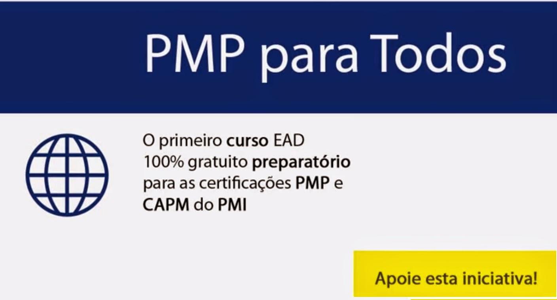 O Primeiro Curso EAD 100% Gratuito Preparatório para Certificação PMP