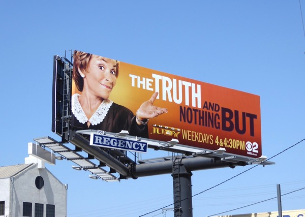 Judge Judy truth nothing but season 21 billboard